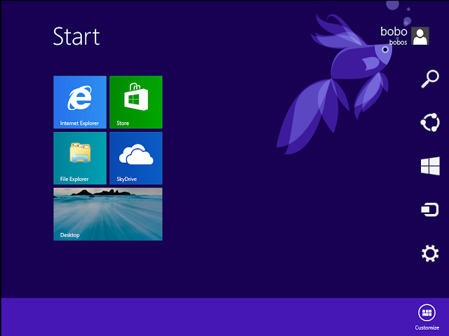 how to get out of fullscreen apps in windows 8