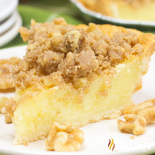 Buttermilk Pie with Streusel Topping