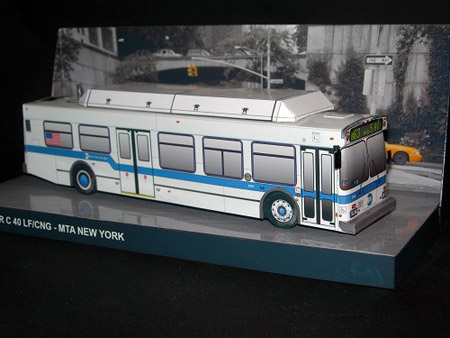 MTA New Flyer C40LF Bus Papercraft