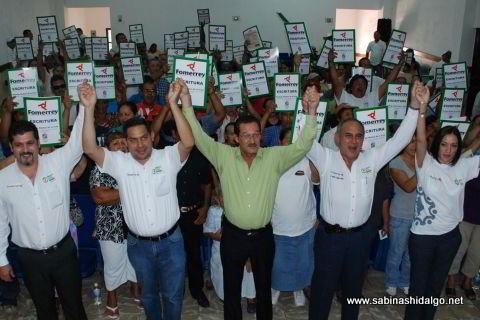 Entregan escrituras de Fomerrey en Sabinas Hidalgo
