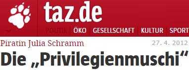 """Julia Schramm: Die """"Privilegienmuschi"""""""
