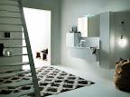 mobile da bagno Linea grigio chiaro, particolare cestoni