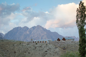 View of PTDC Phander from Phander Lake before the sunset.