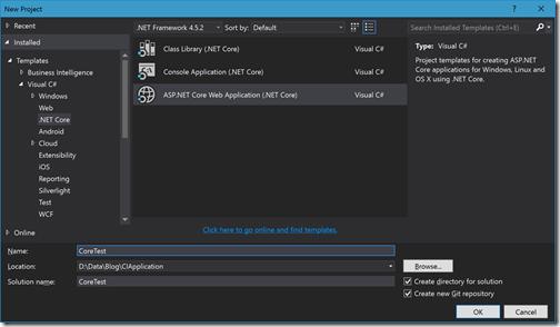 create-net-core-application