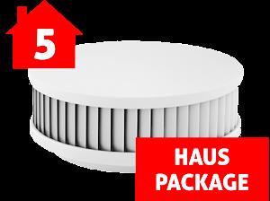 5-er Haus-Set PX-1 Rauchwarnmelder