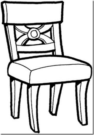 dibujos para colorear muebles de una casa