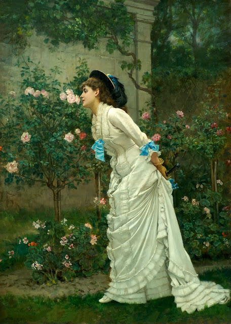 Auguste Toulmouche - Girl and Roses
