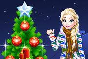 شجرة عيد الميلاد الثلجية