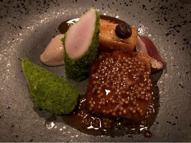 Delicious Rabbit leg and loin main dish