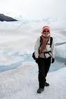 Vasilisa Hiking On The Glacier (Perito Moreno Glacier Outside El Calafate, Argentina)