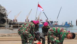 Yonmarhanlan III gelar Poskotis Gulbencal di Dermaga Indah Kiat Banten.