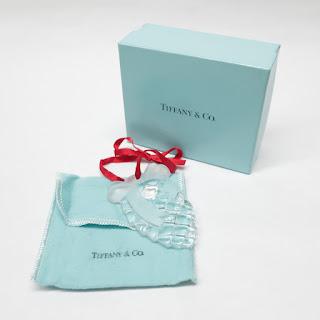 Tiffany & Co. Glass Pine Cone Ornament