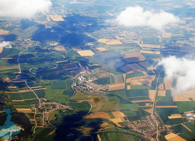 transilvania din avion tarom