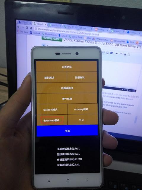Cara Unbrick Dan Flash Rom Redmi 3 dari Rom Abal-abal ke Rom China Stable 7.1.1.0 Locked Bootloader - Masuk Download Mode Redmi 3