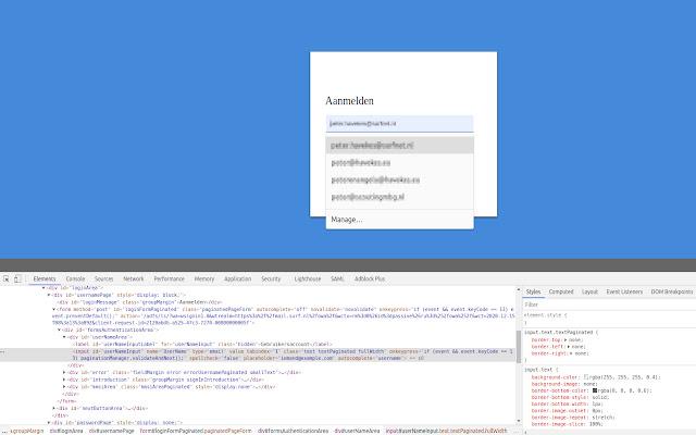 Fix ADFS autocomplete