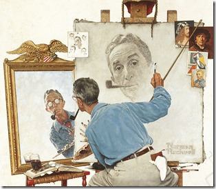 Norman Rockwell self portrait cropped