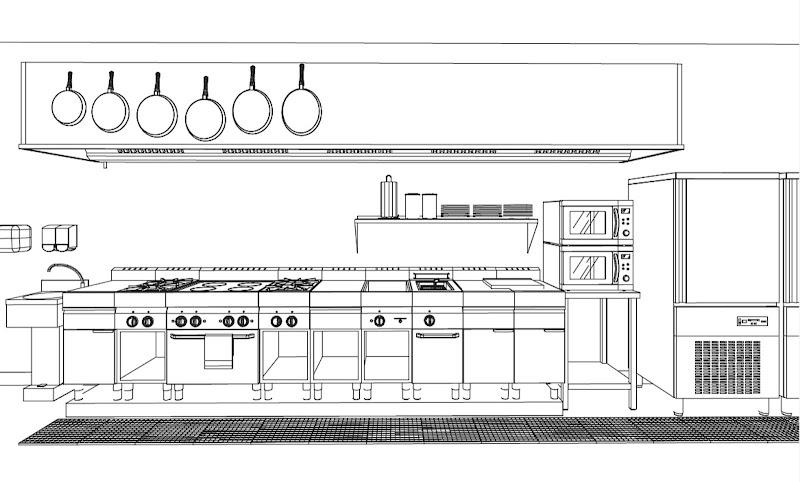 Plano De Una Cocina Profesional Esta Vivienda Moderna Es
