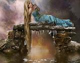 Girl On The Shore Of Magic Lake