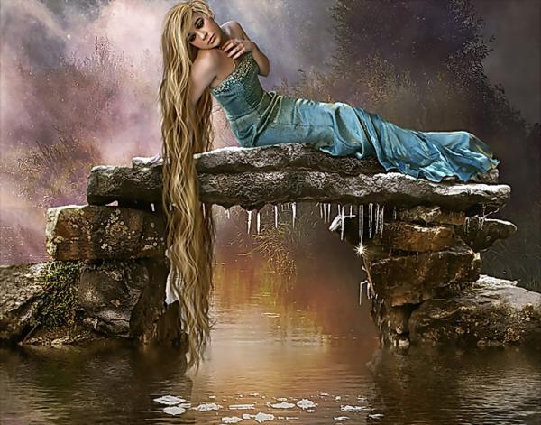 Girl On The Shore Of Magic Lake, Fairies 4