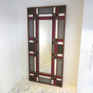Contemporary Large Color Block Floor Mirror