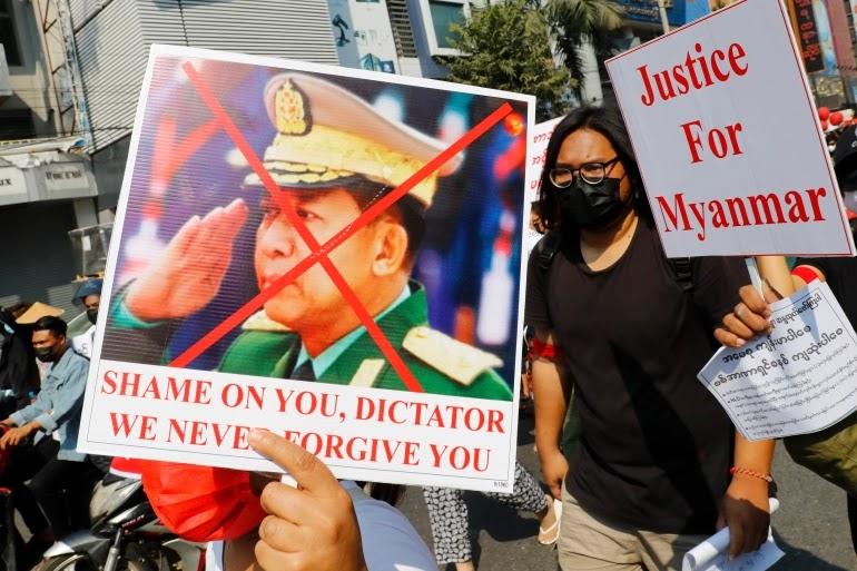 Militer Myanmar Minta Demo Antikudeta Diakhiri, Alasannya Cegah COVID-19