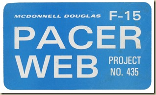 Pacer Web F-15 Sticker