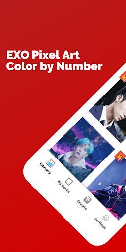 EXO Pixel Art - Color by Number 28.9.2020 screenshots 1