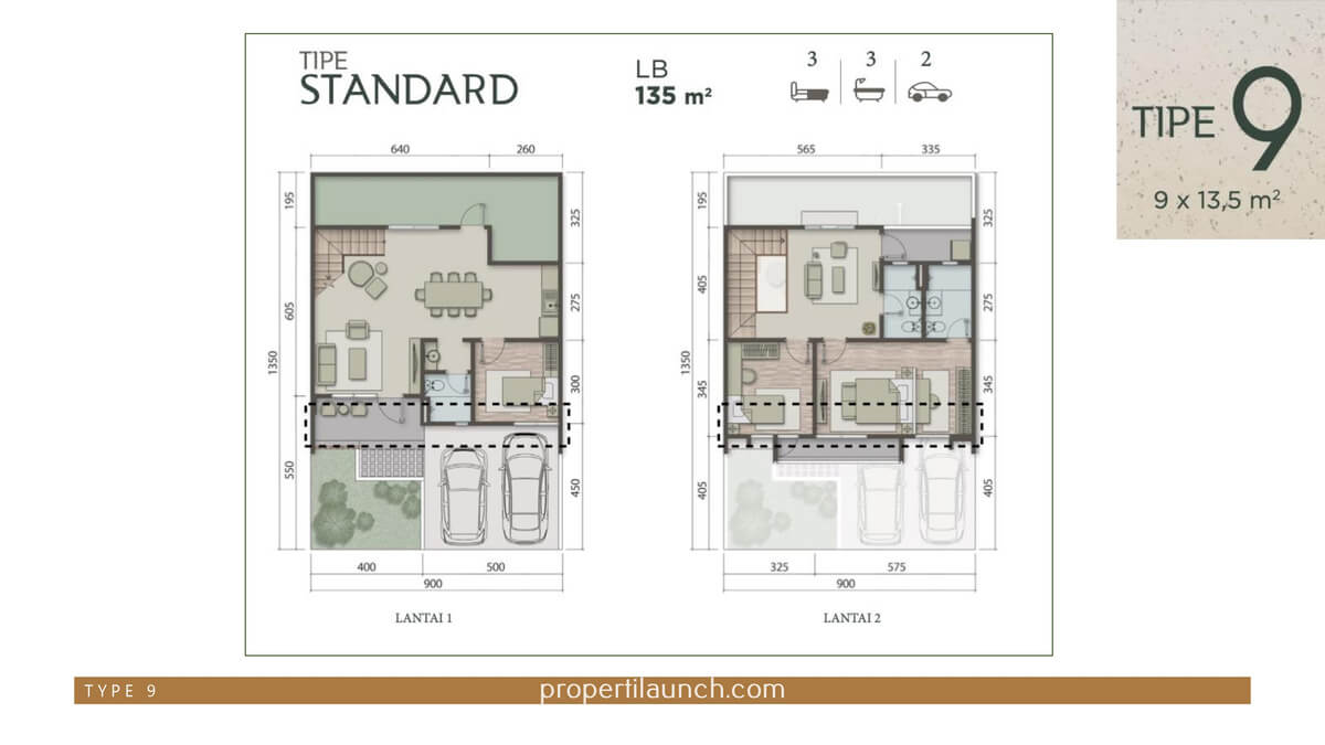 Rumah Carson Summarecon Serpong Tipe 9 Standard