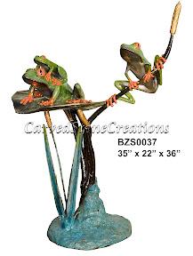 Bronze, Statue, Tree Frog