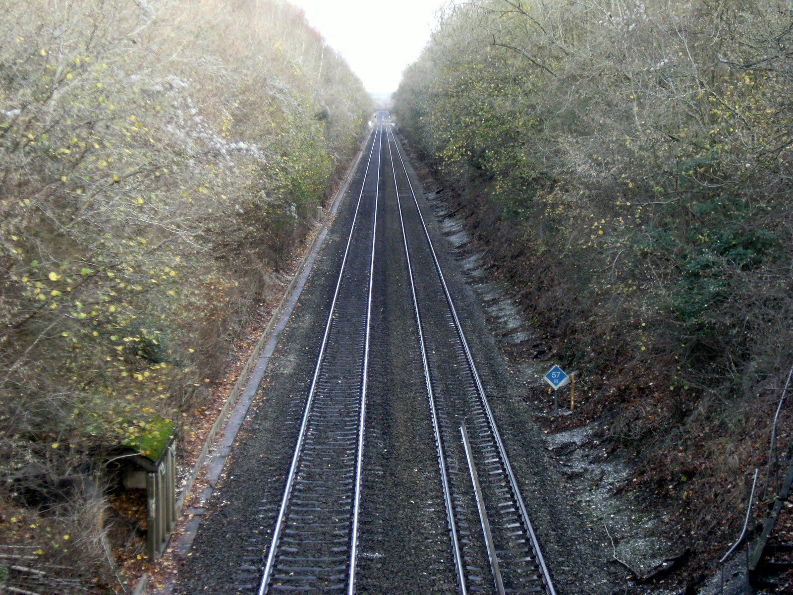 DSCF2703 Railway line between Overton & Whitchurch