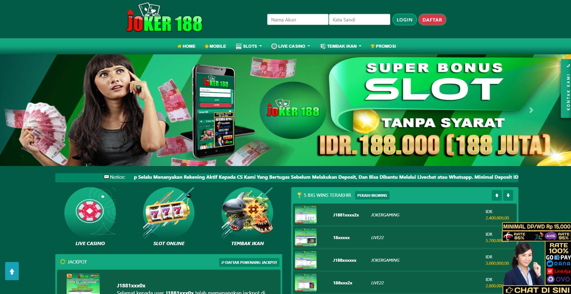 Joker188 Situs Mesin Slot Online Deposit Aplikasi Linkaja Profile Ichibot Forum