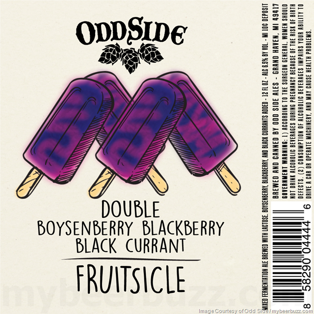Odd Side Fruitsicle Double Boysenberry Blackberry Black Currant