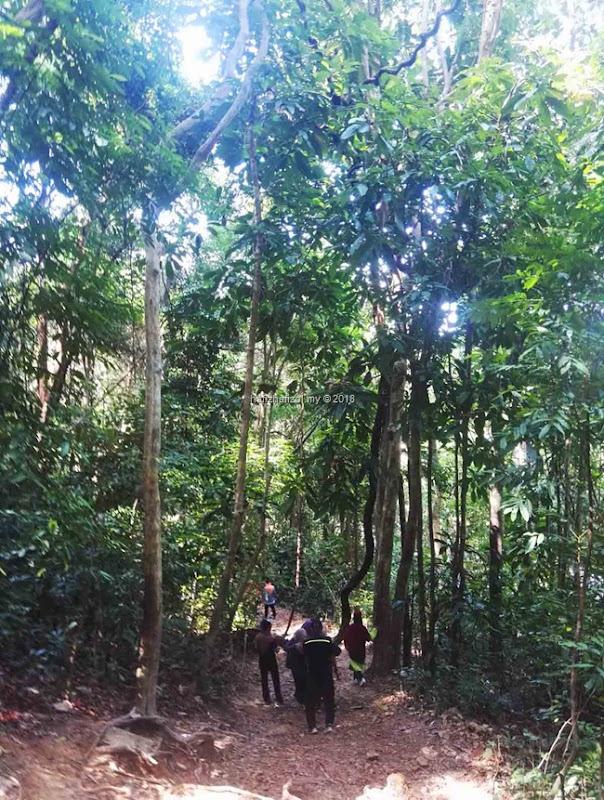 hiking di bukit kluang
