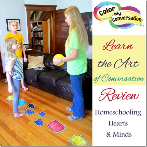Learn the Art of Social Language with Color My Conversation, review at Homeschooling Hearts & Minds