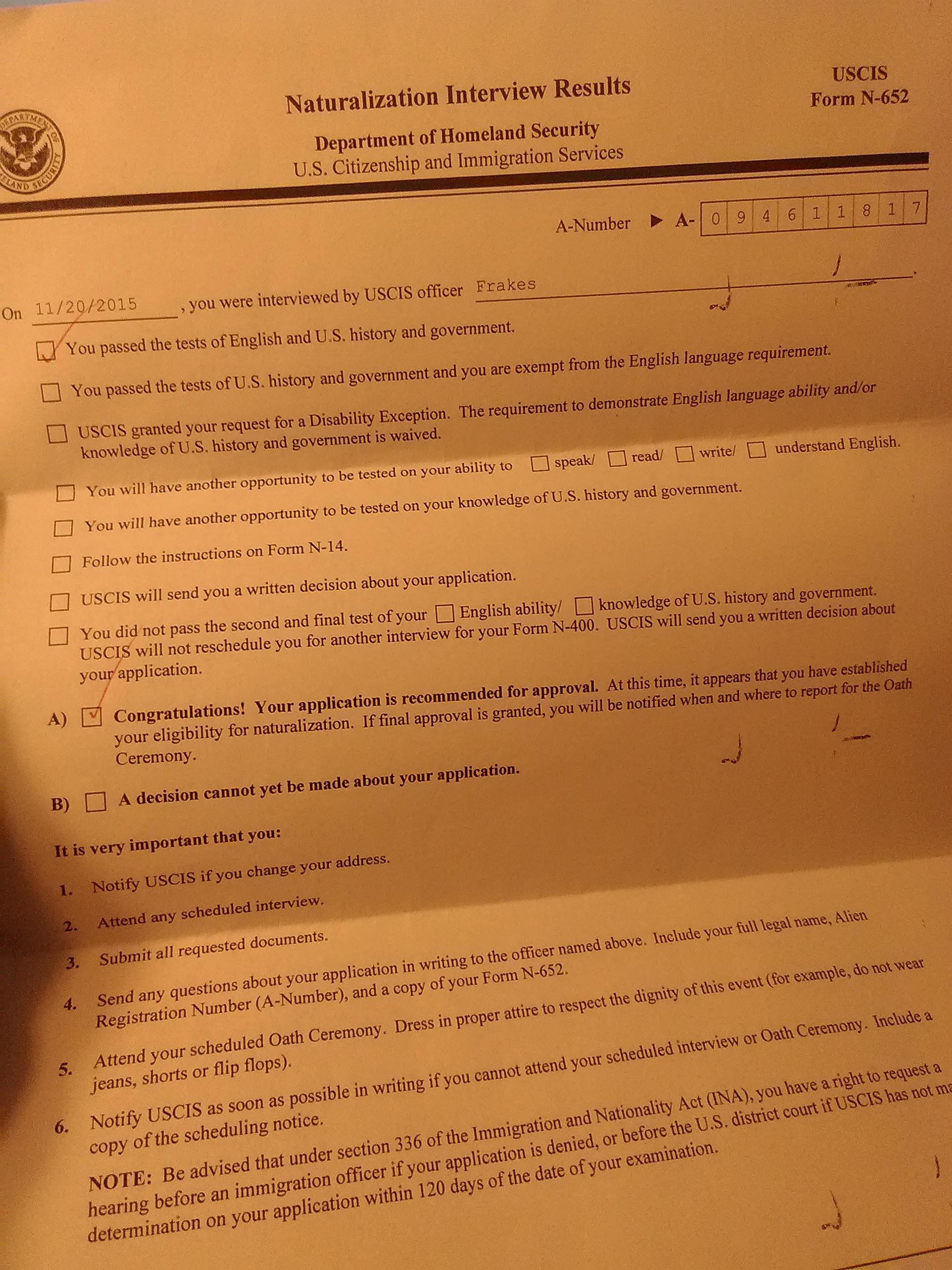 Form N14 Citizenship Honghankk