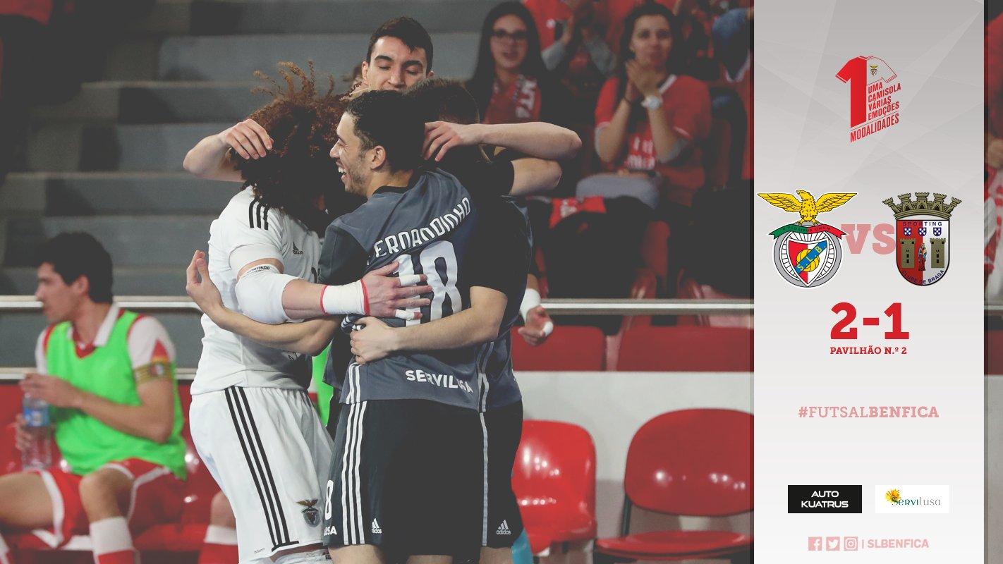 A equipa de futsal do Benfica venceu hoje o sporting de Braga por 2-1 no  segundo jogo da meia final e690f50d3c194