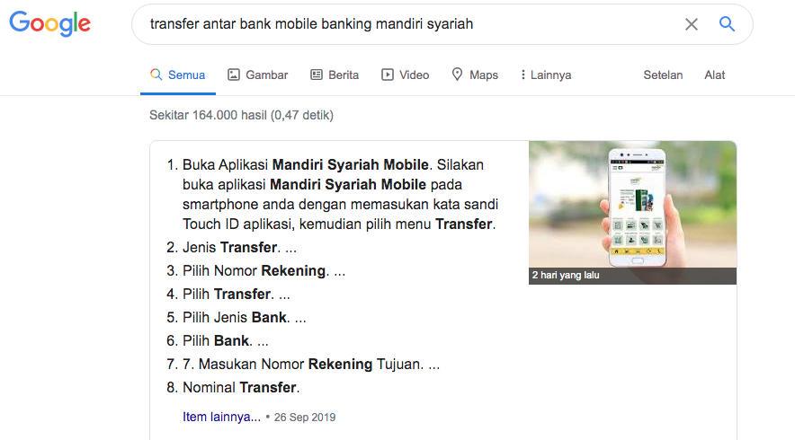 Google SERP judul dan sub judul
