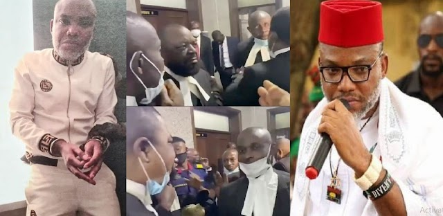 Confusion As Lawyers Are Denied Into The Court Room For Trial Of IPOB Leader, Nnamdi Kanu (VIDEO)
