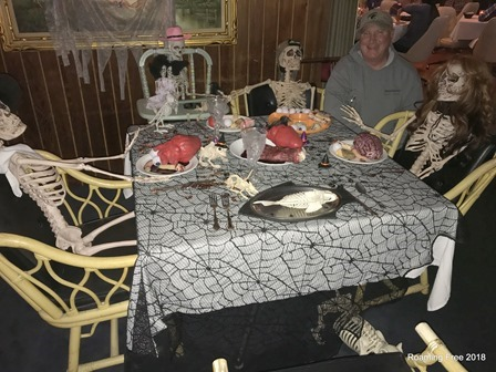 Dinner with the skeleton family
