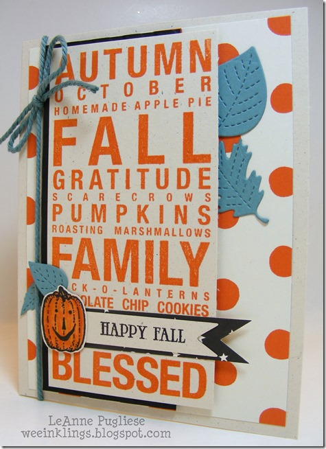 LeAnne Pugliese WeeInklings Happy Fall Close to My Heart Poster Tidings 2