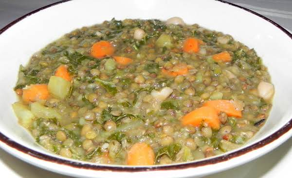 French Lentils And Kale Soup