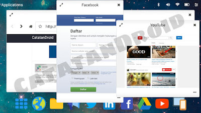 Mencoba aplikasi bawaan Leena Launcher