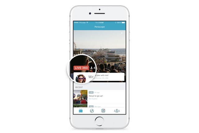 Twitter is bringing live 360-degree video streams to Periscope.