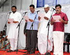 New Ministers Swearing: (L to R) Laxman Savadi, CC Patil, Revunaik Belumigi, A Randas