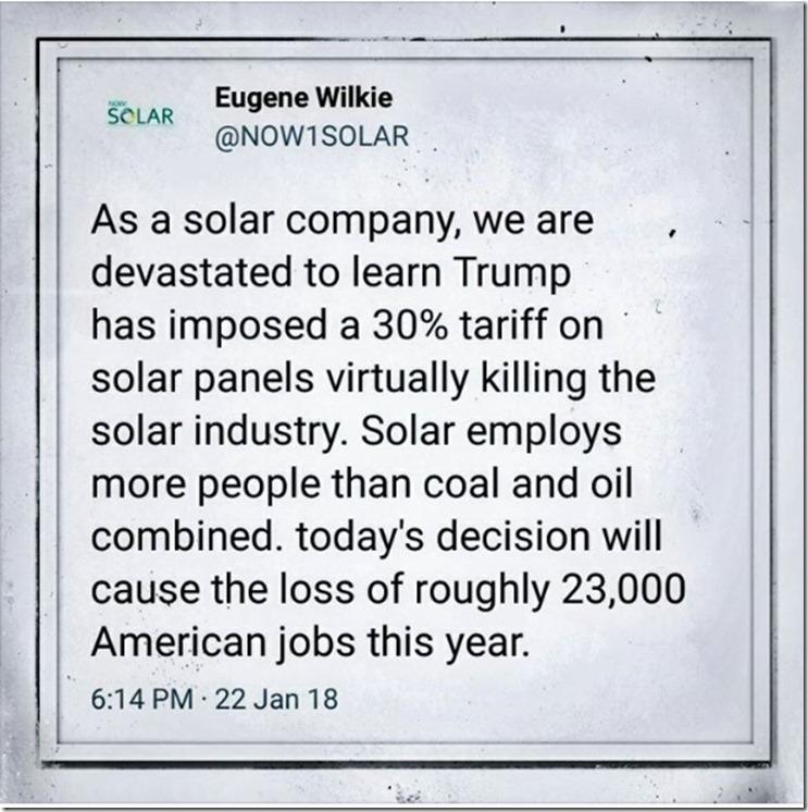 solar panel tariff