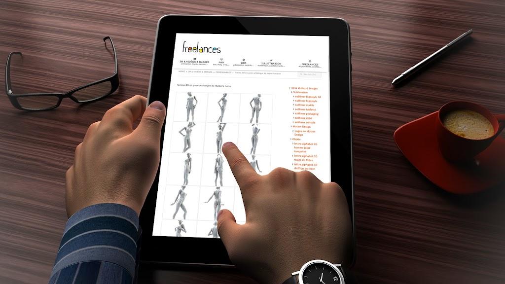 capture écran pour tablettes sublimer présentation responsive web design conception site web adaptatif iPad 3D