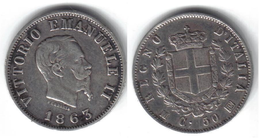 Mi colección de monedas italianas. 50%20centesimi%201863%20M