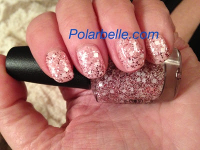 OPI Muppets Most Wanted, glitter top coat, square glitter nail polish, I Want Applause