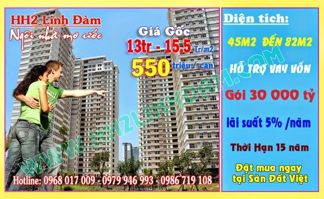 Hỗ trợ mua nhà chung cư HH1 HH2 Linh Đàm