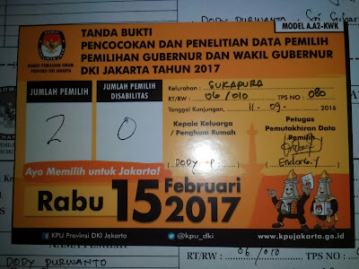 Pemutakhiran Data Pemilih Pilgub DKI Jakarta